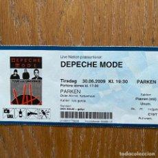 Entradas de Conciertos: ENTRADA DEPECHE MODE TOUR OF THE UNIVERSE 2009 EN COPENHAGEN (ESTADIO PARKEN). Lote 221815252