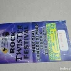 Entradas de Conciertos: ENTRADA CONCIERTO. ROCK TWISTER FESTIVAL. HALF-TIME-SANGRE DE TORO-OTROS. EL VENDRELL. LA DE LA FOTO. Lote 222018306