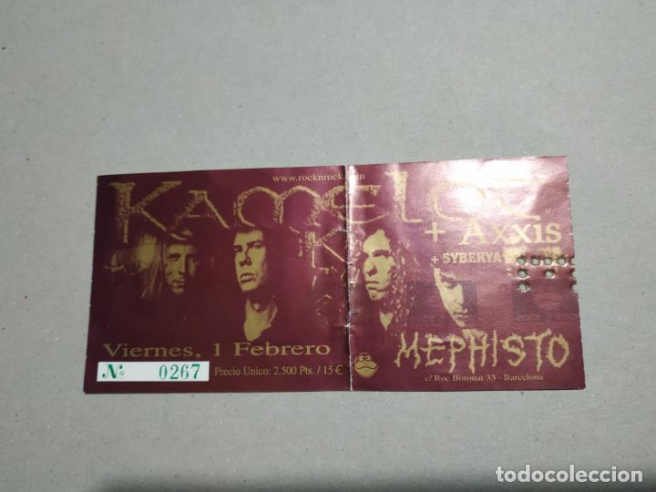 ENTRADA CONCIERTO KAMELOT-AXXIS-OTROS. SALA MEPHISTO, BARCELONA. LA DE LA FOTO (Música - Entradas)