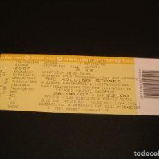 Billets de concerts: THE ROLLING STONES ENTRADA INVITACIÓN COMPLETA VICENTE CALDERÓN MADRID GIRA TOUR 2007. Lote 222032212