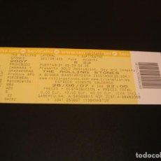 Billets de concerts: THE ROLLING STONES ENTRADA INVITACIÓN COMPLETA VICENTE CALDERÓN MADRID GIRA TOUR 2007. Lote 222032293
