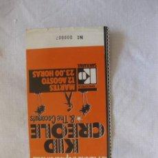 Billets de concerts: ENTRADA CONCIERTO KID CREOLE & THE COCONUTS. LA MARCHA TROPICAL EN IBIZA. MARTES 12 AGOSTO.. Lote 222061841