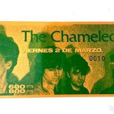 Billets de concerts: ENTRADA 010 PARA COLECCIONISTAS DE UN CONCIERTO DE THE CHAMALEONS, 2 DE MARZO DE 1984, SALA ROCK-OLA. Lote 222312096