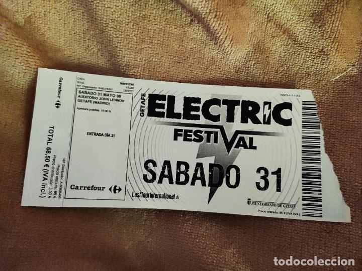 ENTRADA ELECTRIC FESTIVAL. AUDITORIO JOHN LENNON, GETAFE. MADRID. LA DE LA FOTO (Música - Entradas)