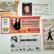 Entradas de Conciertos: LOTE ENTRADAS CONCIERTOS AÑOS 80 AL 2000 AMARAL, ENRIQUE IGLESIAS, MIGUEL BOSÉ, DUNCAN DHU.... Lote 222449562