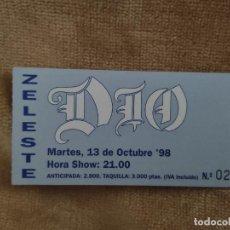 Entradas de Conciertos: ENTRADA CONCIERTO DIO. SALA ZELESTE, BARCELONA. LA DE LA FOTO. Lote 222453223