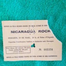 Entradas de Conciertos: NICARAGUA ROCK :KORTATU -LA POLLA RECORDS -ELECTROPUTOS- RARA ENTRADA DE CONCIERTO OPORTUNIDAD COL. Lote 222548610
