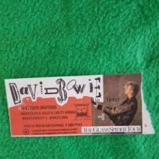 Biglietti di Concerti: DAVID BOWIE ENTRADA CONCIERTO TICKET 1990 BARCELONA PERFECTA OPORTUNIDAD COLECCIONISTAS. Lote 222552698