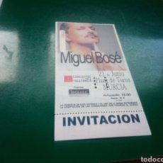 Entradas de Conciertos: ANTIGUA ENTRADA DE CONCIERTO. MIGUEL BOSÉ. PLAZA DE TOROS ( MURCIA). NÚMERO 300. Lote 222881708