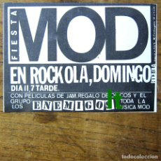 Biglietti di Concerti: FLYER FIESTA MOD, CONCIERTO LOS ENEMIGOS - ROCK-OLA, 11 OCTUBRE 1981 - ROCKOLA, MOVIDA. Lote 223089797