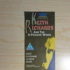 Entradas de Conciertos: ENTRADA CONCIERTO KEITH RICHARDS. Lote 223768656