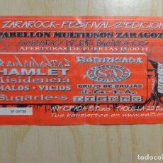 Entradas de Conciertos: ENTRADA FESTIVAL 'ZARAROCK FESTIVAL 2º EDICION'. Lote 223769196