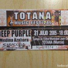 Entradas de Conciertos: ENTRADA FESTIVAL 'TOTANA MUSIC FESTIVAL'. Lote 223769226