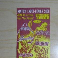 Entradas de Conciertos: ENTRADA FESTIVAL 'KINTOS I APOL-LONIES 2000'. Lote 223769295