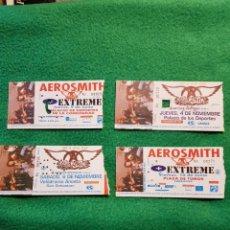 Billets de concerts: AEROSMITH GRAN COLECCION DE 4 ENTRADA TICKET DE CONCIERTO ANTIGUA HEAVY METAL VEA DESCRIPCIÓN OPOR. Lote 223944166