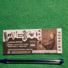 Billets de concerts: DAVID BOWIE :ENTRADA DE CONCIERTO ANTIGUA TICKET BCNA.OPORTUNIDAD COLECCIONISTAS. Lote 223950503