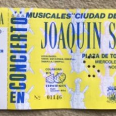 Entradas de Conciertos: ENTRADA INVITACIÓN CONCIERTO DE JOAQUIN SABINA - PLAZA DE TOROS DE SANTANDER - AÑO 1990. Lote 224093323
