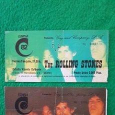 Billets de concerts: THE ROLLING STONES: 2 ENTRADAS TICKET DE CONCIERTO ANTIGUAS MADRID 1982 OFERTA UNICA COLECCIONISTAS. Lote 224162267