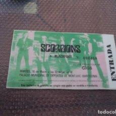 Billets de concerts: SCORPIONS: ENTRADA REPLICA PLASTIFICADA-NUEVA SIN USO-PARA COLECCIONISTAS MUY COMPLETA. Lote 224992223