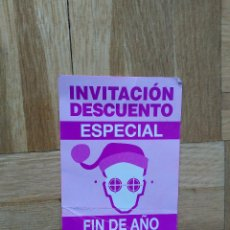 Entradas de Conciertos: FLYER ENTRADA DISCOTECA ACTV. RUTA DEL BACALAO. RUTA DESTROY FIN DE AÑO. VER FOTO ADICIONAL. Lote 225125983