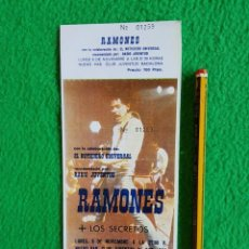 Billets de concerts: RAMONES : ENTRADA ANTIGUA DE CONCIERTO REPRO COMPLETA- OPORTUNIDAD COLECCIONISTAS. Lote 225991215