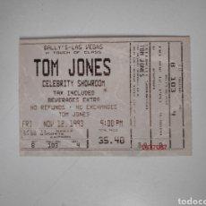 Entradas de Conciertos: ENTRADA CONCIERTO TOM JONES. LAS VEGAS 1993. Lote 226222740