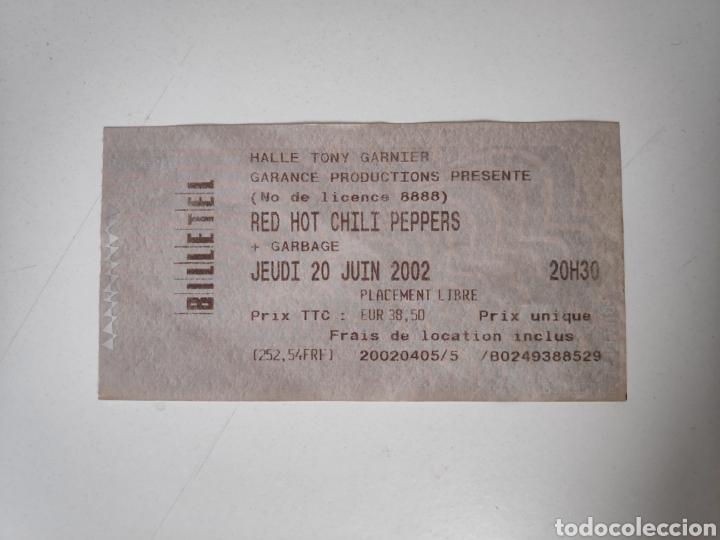 ENTRADA CONCIERTO RED HOT CHILI PEPPERS + GARBAGE. LYON 2002 (Música - Entradas)