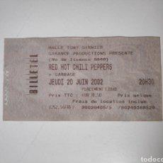 Entradas de Conciertos: ENTRADA CONCIERTO RED HOT CHILI PEPPERS + GARBAGE. LYON 2002. Lote 226227398