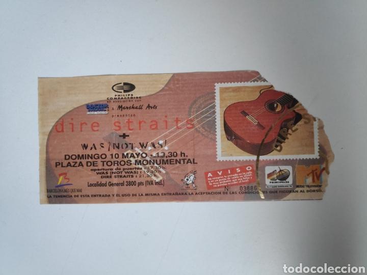 ENTRADA CONCIERTO DIRE STRAITS, ON EVERY STREET TOUR. BARCELONA 1992 (Música - Entradas)