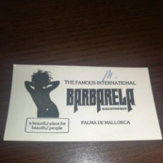Entradas de Conciertos: ENTRADA AÑOS 70,MITICA DISCOTECA BARBARELA, PALMA DE MALLORCA.. Lote 228091560