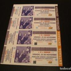 Entradas de Conciertos: HEROES DEL SILENCIO LOTE 4 ENTRADAS PRUEBAS DEL PROMOTOR SIN NUMERAR MELGAR Y SANTIAGO 1996 GIRA. Lote 296945668