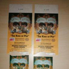 Entradas de Conciertos: 2 ENTRADAS CON PASE VIP, MICHAEL JACKSON - DANGEROUS WORLD TOUR 1993 - TENERIFE. Lote 229919775