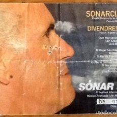 Entradas de Conciertos: ENTRADA SONAR 97 VIERNES NOCHE. Lote 229974055