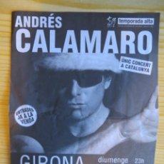 Entradas de Conciertos: ANDRES CALAMARO: FLYER. Lote 230225810