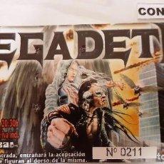 Biglietti di Concerti: ENTRADA DE MEGADETH. Lote 258850025
