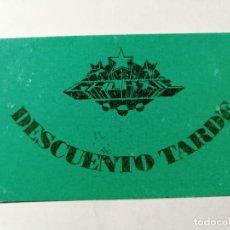 Billets de concerts: ENTRADA DISCOTECA O INVITACIÓN RUTA BACALAO VALENCIA - GALAXIE. Lote 234842225