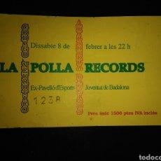 Bilhetes de Concertos: ENTRADA CONCIERTO POLLA RECORDS BADALONA. Lote 234968165