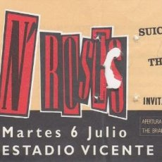 Entradas de Conciertos: GUNS N' ROSES + SUICIDAL TENDENCIES + BRIAN MAY ENTRADA CONCIERTO INVITACION PROHIBIDA VENTA MADRID#. Lote 235082570