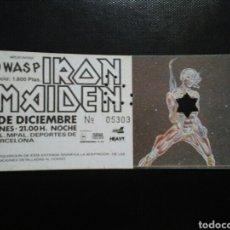 Biglietti di Concerti: ENTRADA CONCIERTO IRON MAIDEN BARCELONA 1986. Lote 235333855