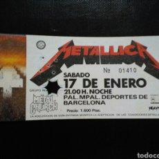 Biglietti di Concerti: ENTRADA CONCIERTO METALLICA BARCELONA 1987. Lote 235335615