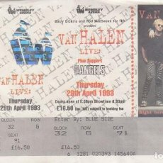 Entradas de Conciertos: VAN HALEN + LITTLE ANGELS - ENTRADA CONCIERTO - WEMBLEY ARENA LONDRES 29 ABRIL 1993 #. Lote 235429170