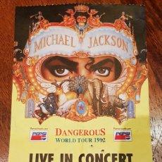 Entradas de Conciertos: ENTRADA CONCIERTO MICHAEL JACKSON - 1992 ESTADI OLIMPIC MONTJUIC DE BARCELONA. Lote 235691490