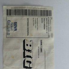Entradas de Conciertos: ENTRADA BIG SOUL. SALA ARENA MADRID. 6 DE NOVIEMBRE DE 2001. Lote 236302205