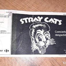 Entradas de Conciertos: ENTRADA STRAY CATS NUEVA LA RIVIERA 2008 SIN ROMPER CONCERT CONCIERTO DESPEDIDA. Lote 237407455