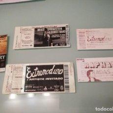 Entradas de Conciertos: LOTE DE ENTRADAS VARIOS ARTISTAS Y FESTIVALES: BRUCE SPRINGSTEEN, EXTREMODURO, BUNBURY... (+ REGALO). Lote 238520420