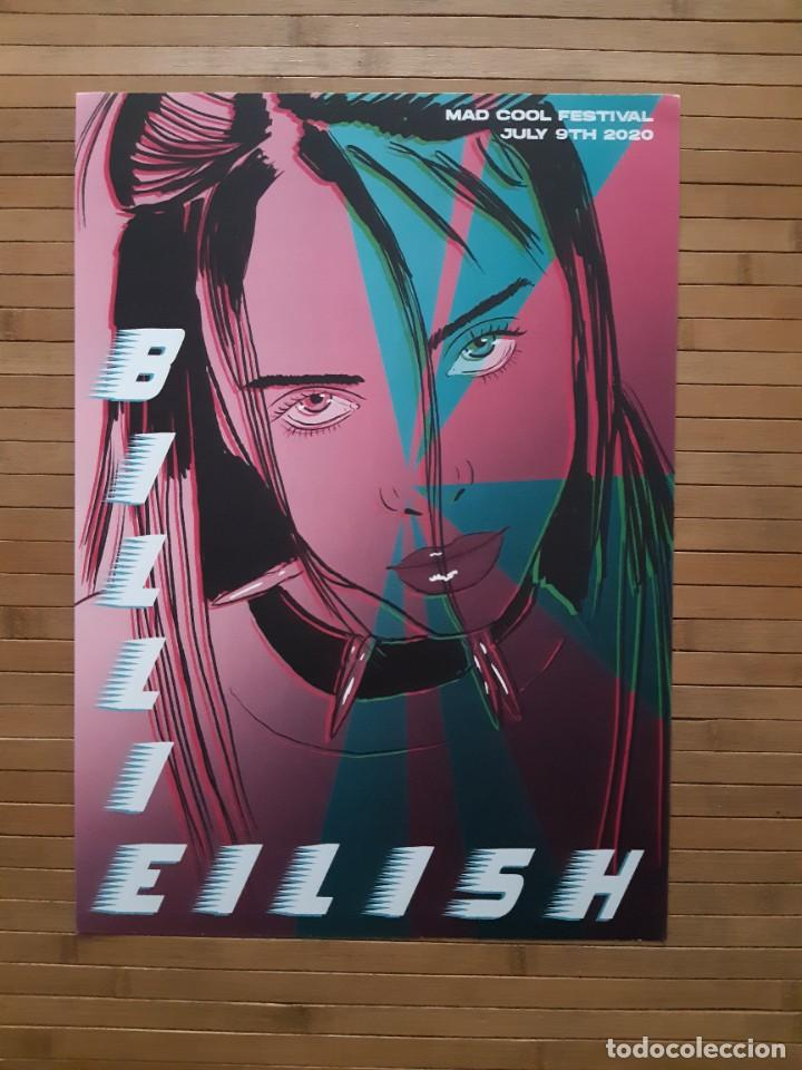 Entradas de Conciertos: Rara y limitada edición de Cartel concierto Billie Eilish en Madrid- Mad Cool ROCK-POP-RAP-HIP HOP - Foto 2 - 243678195