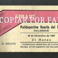 Entradas de Conciertos: ENTRADA JOAQUIN SABINA Y VICEVERSA GIRA 87 POLIDEPORTIVO HUERTA DEL REY VALLADOLID 1987. Lote 244859605