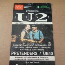 Entradas de Conciertos: ENTRADA -PRIMER CONCIERTO DE U2 EN ESPAÑA 1987- NUMERO 353 - U2 + PRETENDERS + UB40 - MADRID. Lote 244870380