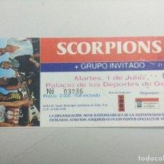 Entradas de Conciertos: ENTRADA DE CONCIERTO/SCORPIONS/PALACIO DE LOS DEPORTES GIJON.. Lote 245961780