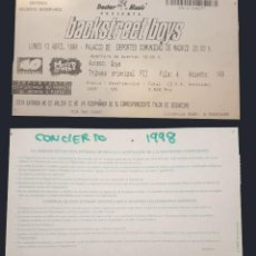 Entradas de Conciertos: BACKSTREET BOYS ENTRADA TICKET ORIGINAL CONCIERTO MADRID 1998. Lote 246039560